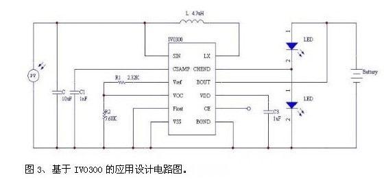 典型应用电路设计及注意事项     iv0300 应用电路设计如图3所示