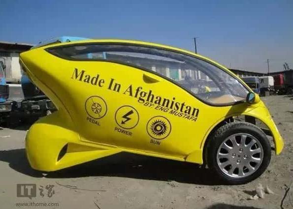 阿富汗青年太励志 独立设计太阳能摩托车