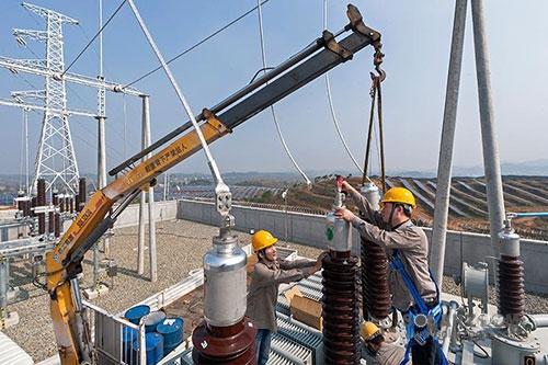 湖北红安革命老区首个110kv光伏发电站投产并网
